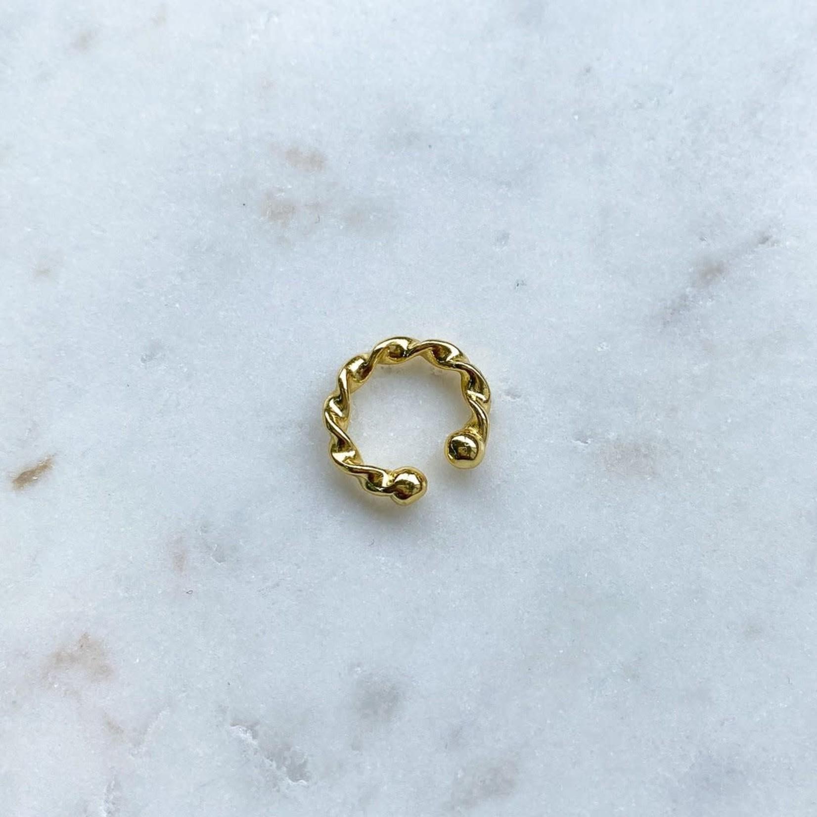 Horace Jewelry Horace fausse boucle d'oreille TWISTÉ OR