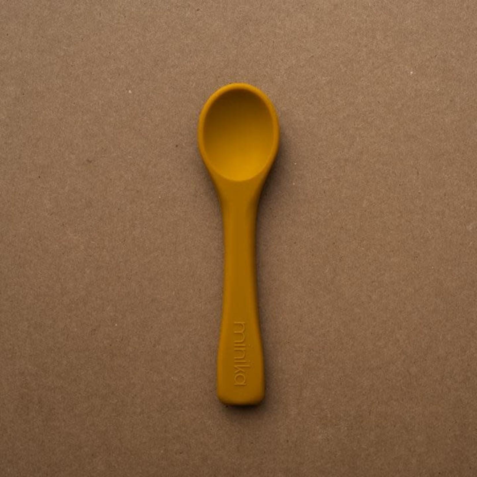 Minika Minika cuillère en silicone ocre