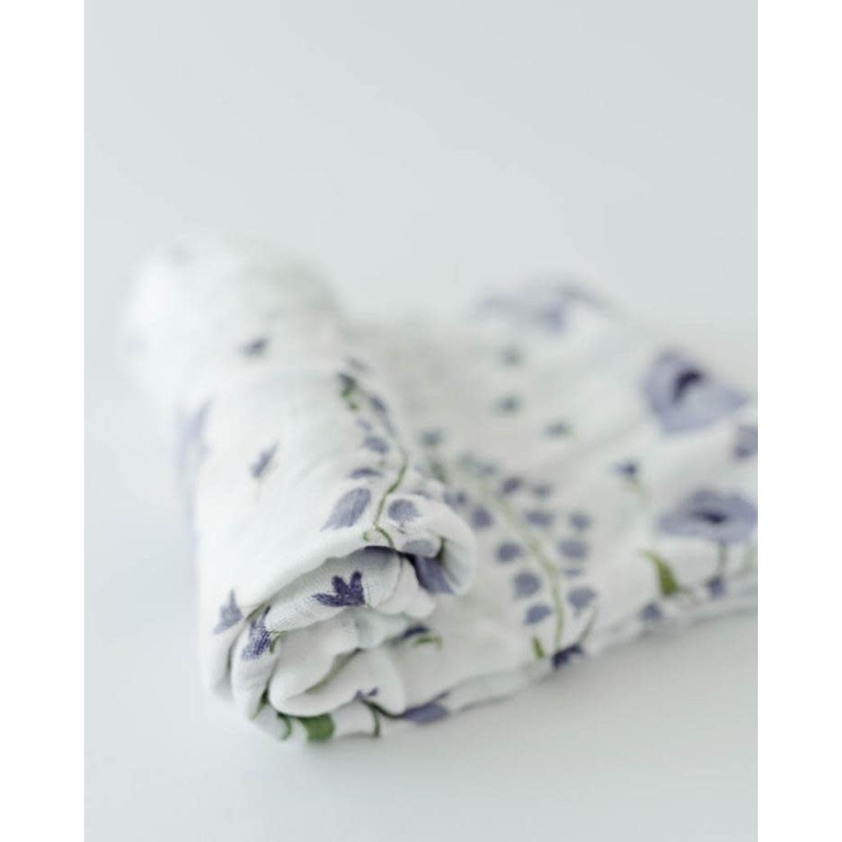 Little unicorn Mousseline deluxe - Blue windflower