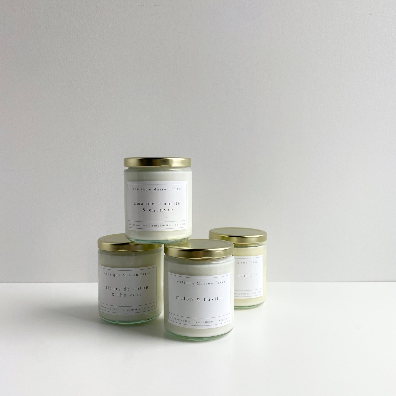 Maison Trika bougie - Pêche & agrumes