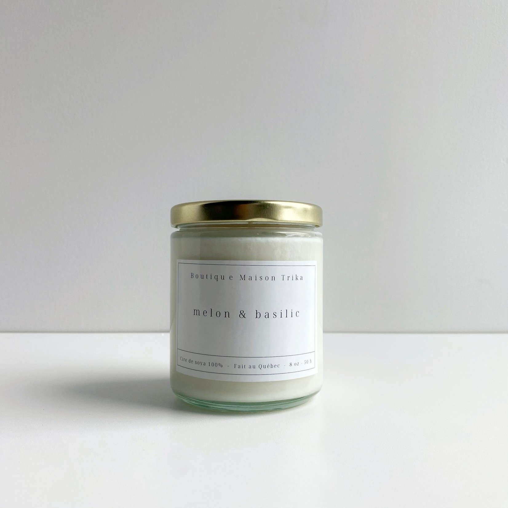 Maison Trika bougie - Melon & basilic