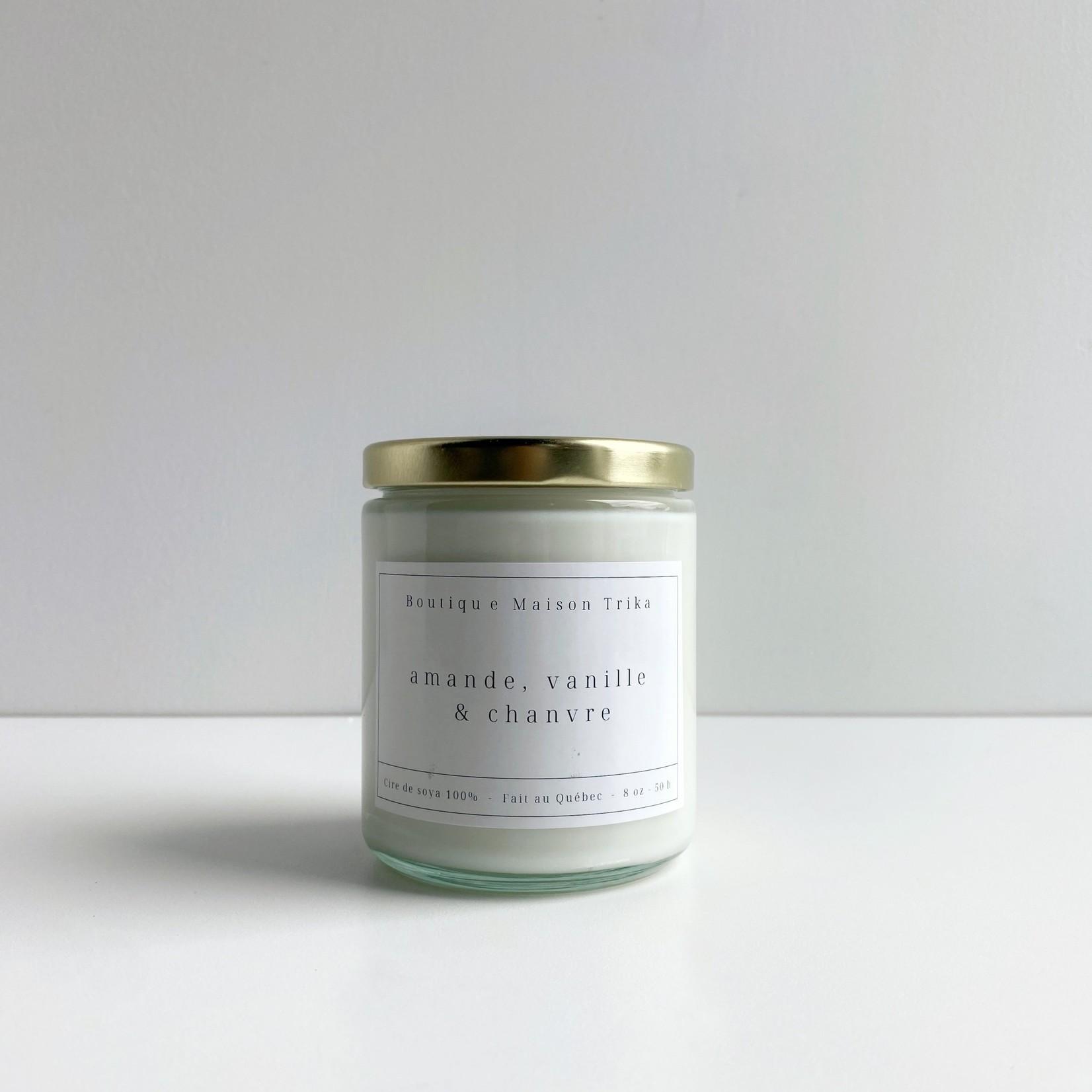 Maison Trika bougie - Amande, vanille & chanvre