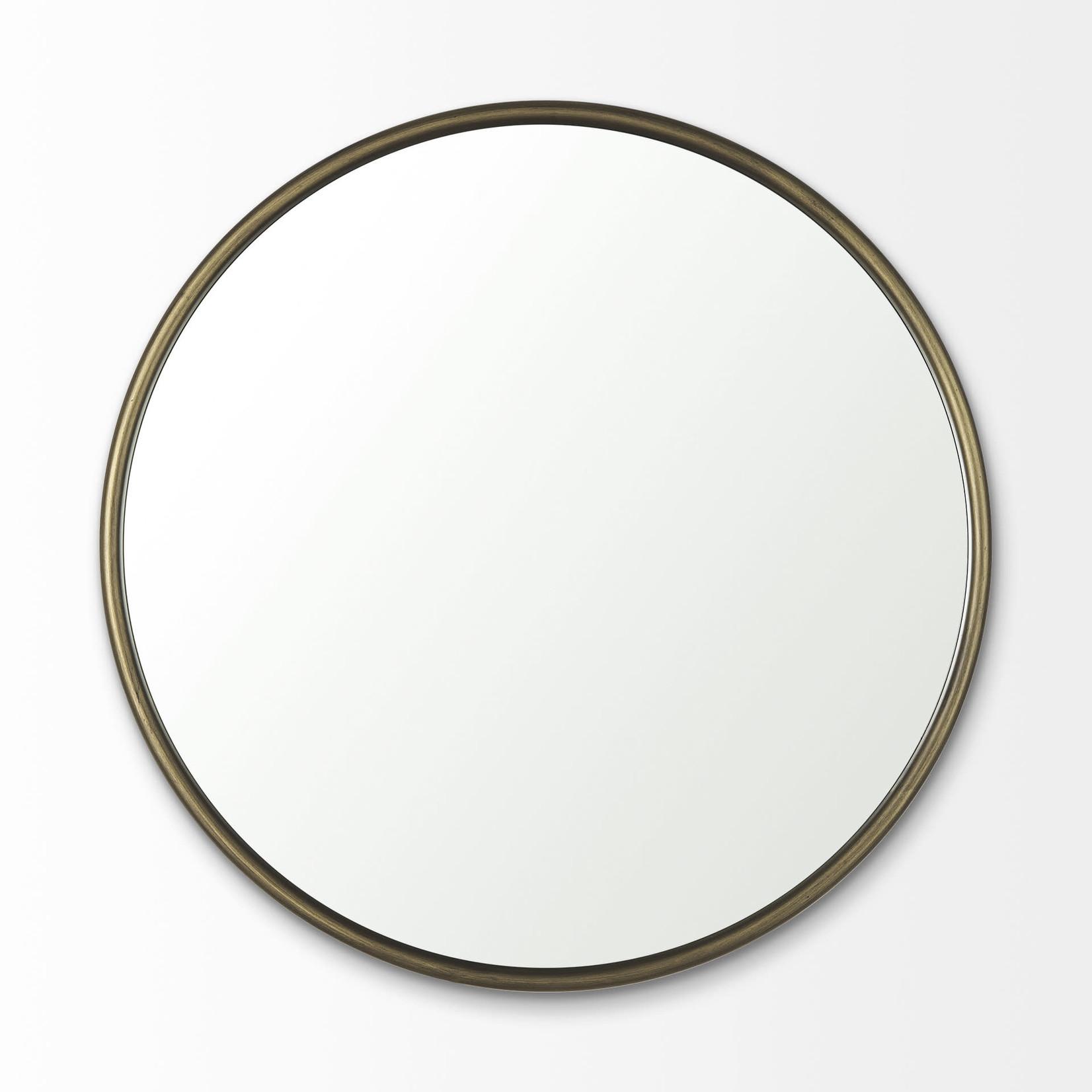 Mercana Miroir rond PIPER - Laiton