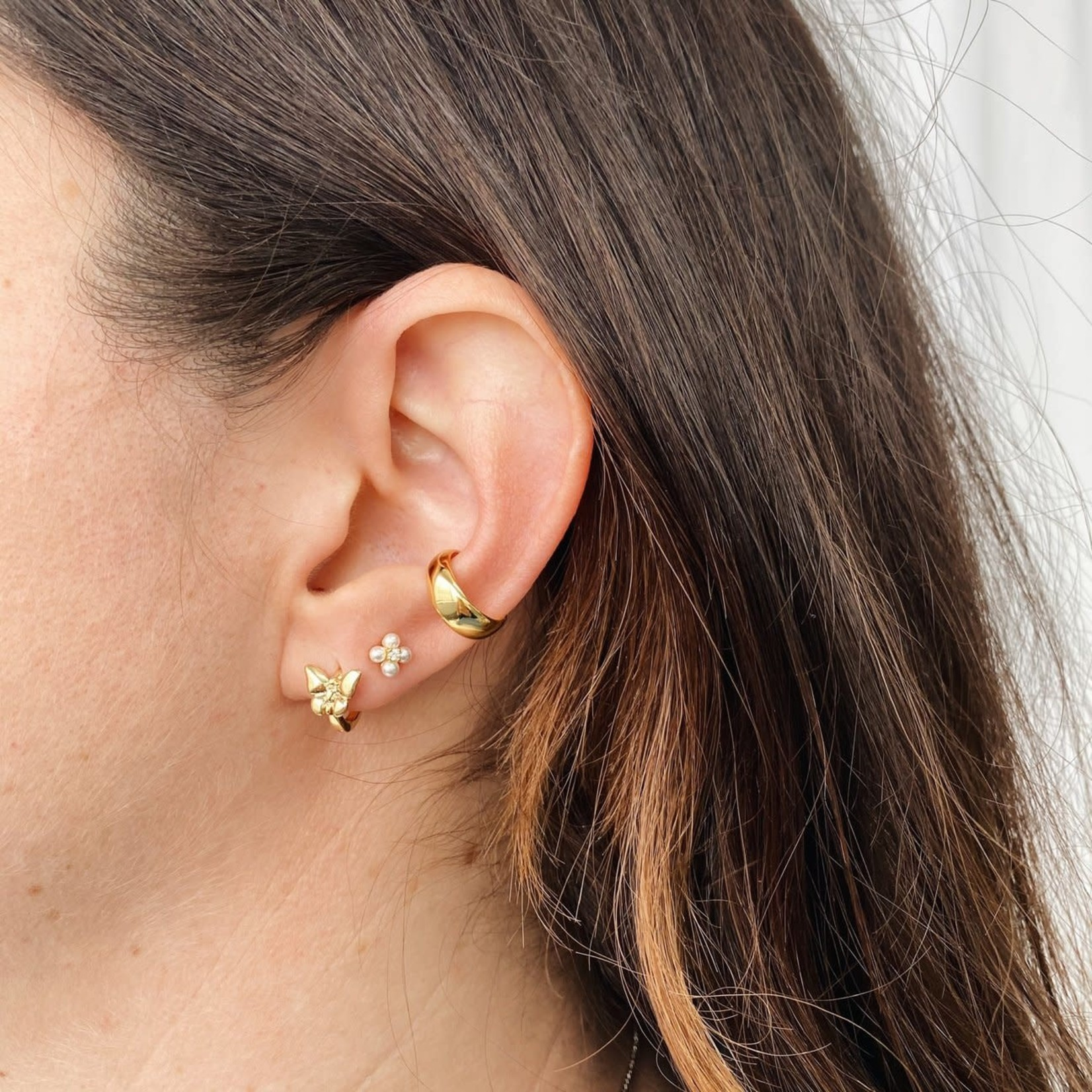 Horace Jewelry Horace fausse boucle d'oreille BOLD OR