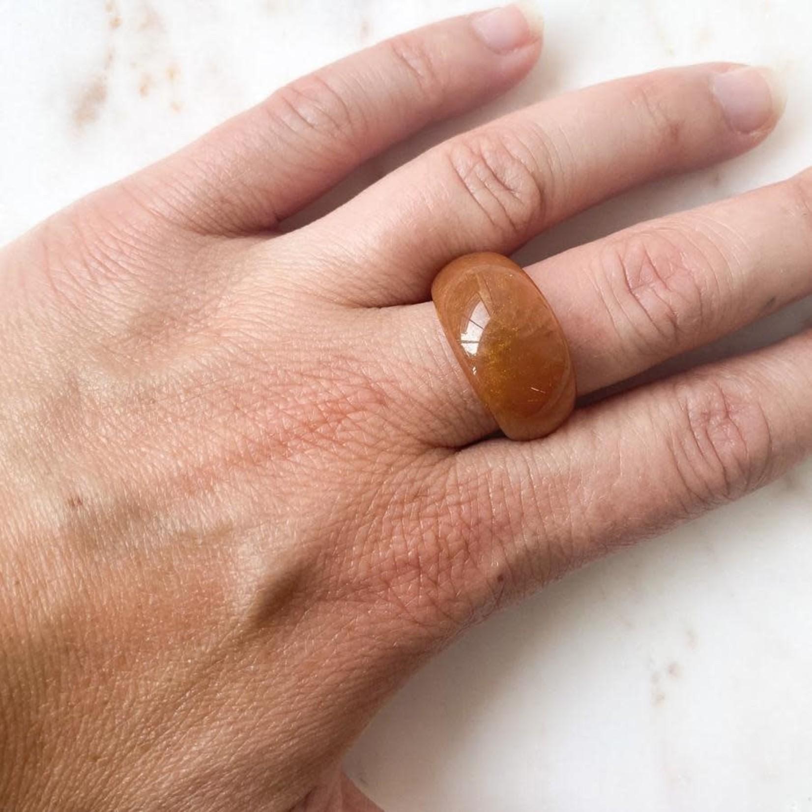 Horace Jewelry Horace bague en résine- orange