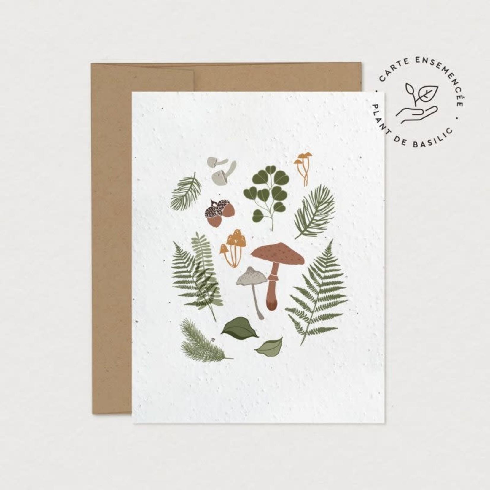 Mimosa Design Carte - Récolte forestière (à planter)