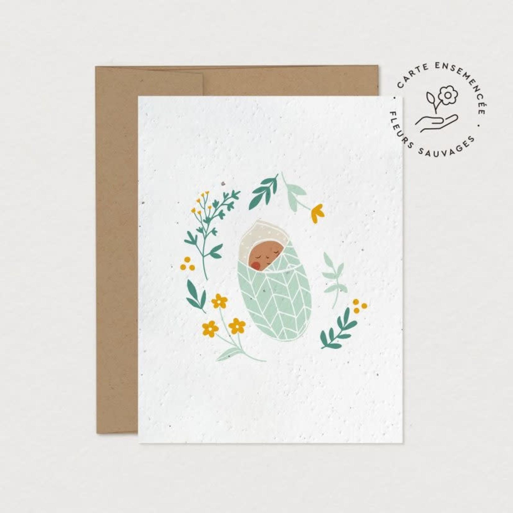 Mimosa Design Carte - Petit cocon  (à planter)