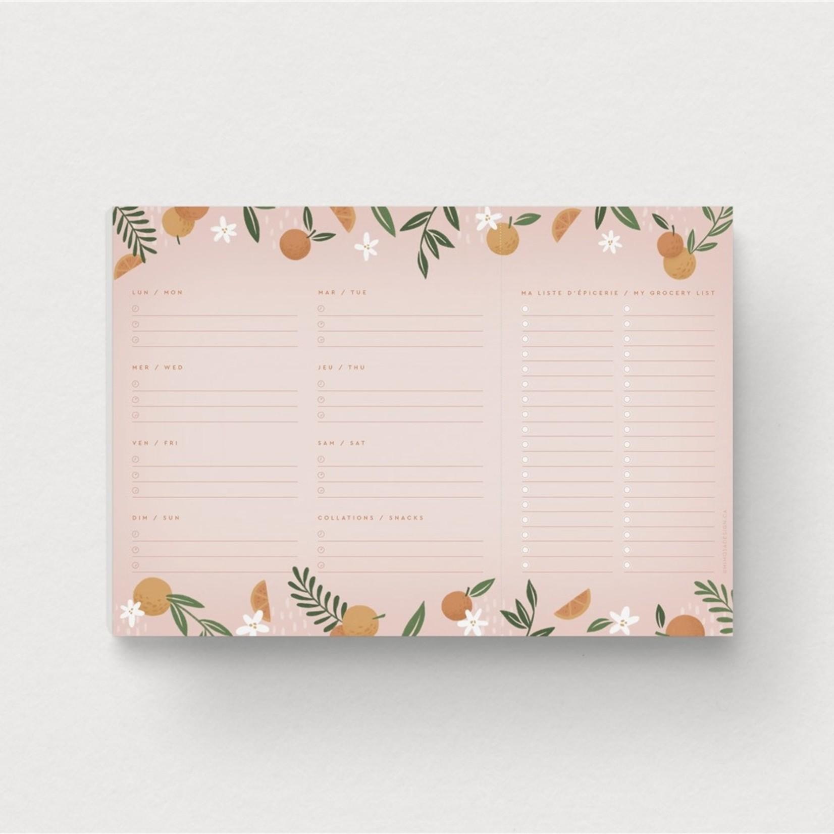 Mimosa Design Planificateur de repas - Mimosa