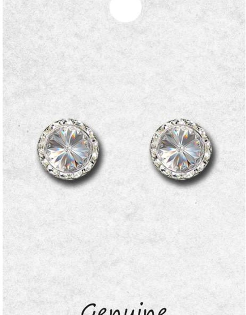 11mm Performance Earrings Clear 98011