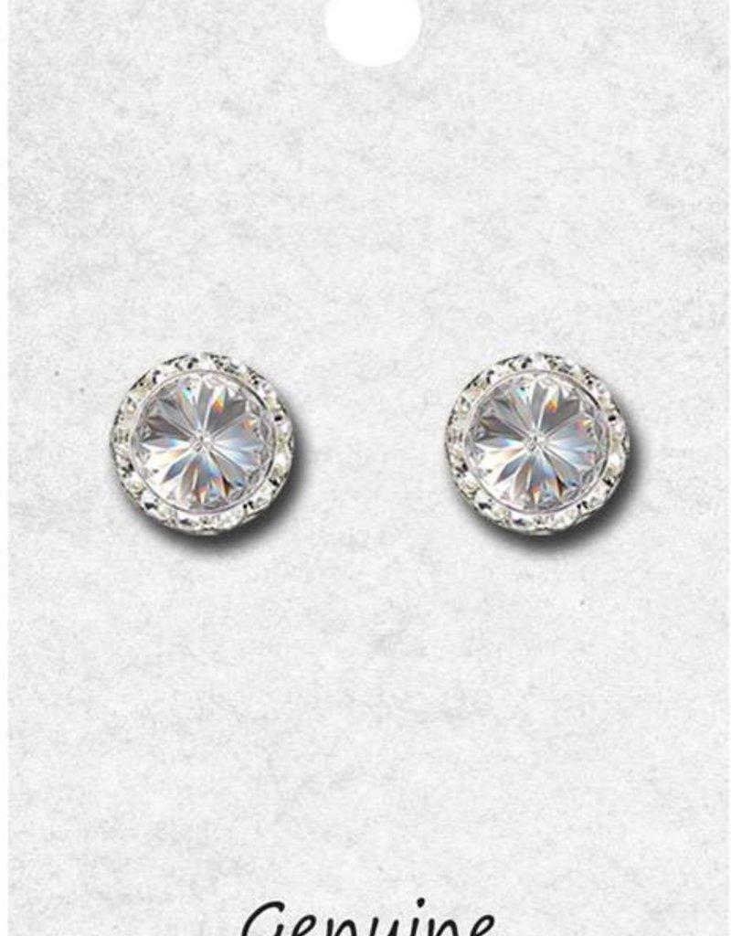 11mm Swarovski Crystal Earrings 98011