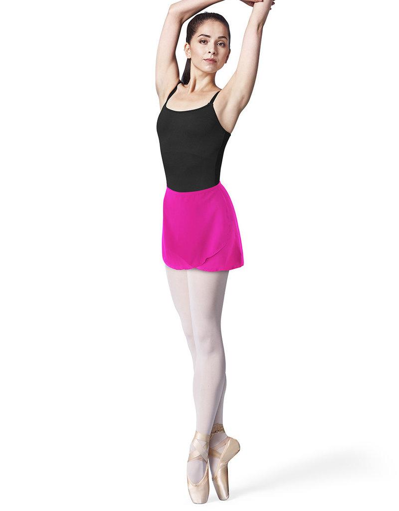 Bloch Flourescent Pink Georgette Wrap Skirt R9721