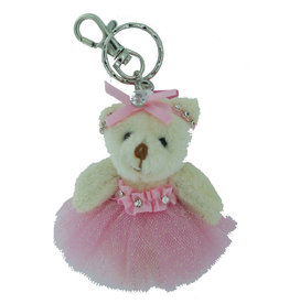 Ballerina Bear Bling Key Ring 77410