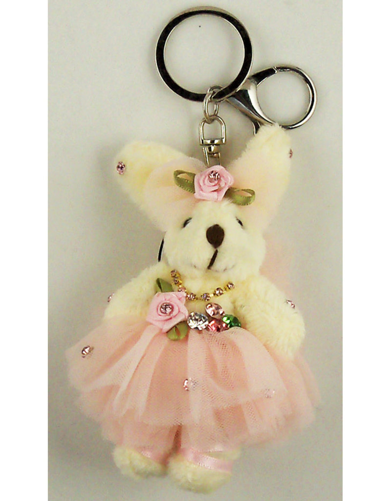 Ballerina Bunny Bling Key Ring 77810