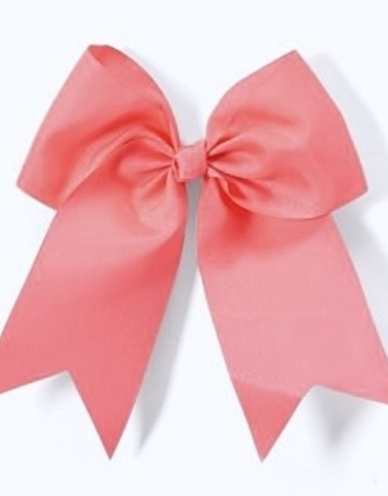 """7 1/2"""" Neon Pink Bow Hair Clip"""