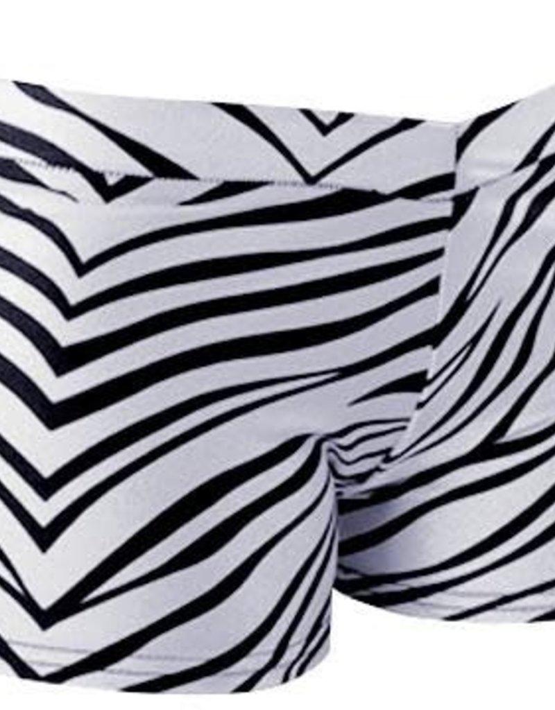 Youth Zebra Shorts WHT 1600