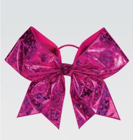 GK Elite Pink Crystal Chasse Performance Hair Bow