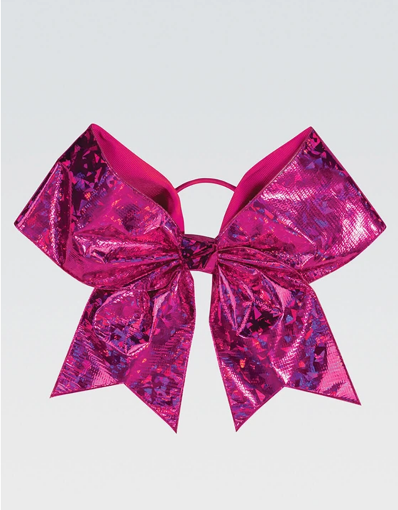 GK Elite Pink Crystal Chasse Performance Hair Bow