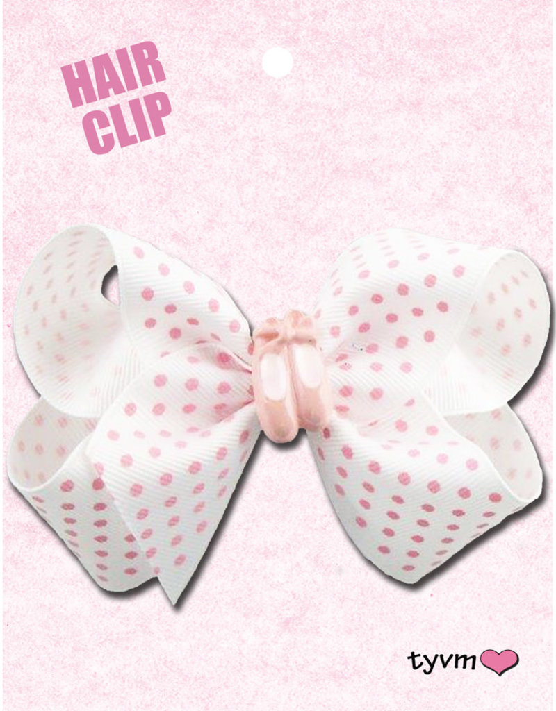 Dots and Slippers Bow White 78750