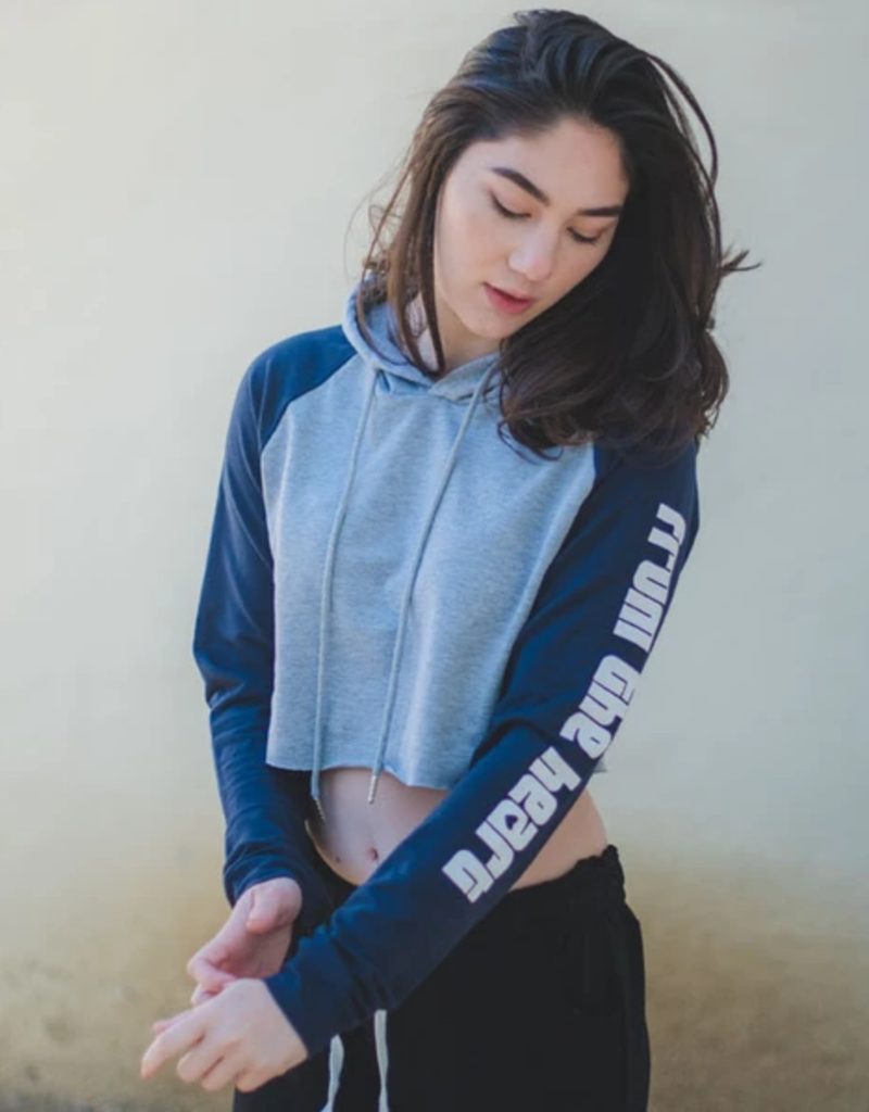 covet From The Heart Crop Hoodie