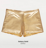 Body Wrappers Metallic Booty Short Adult 700 SIL