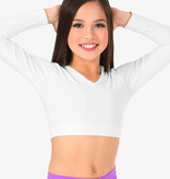 Body Wrappers Child Long Sleeve V-Neck Midriff BWP061