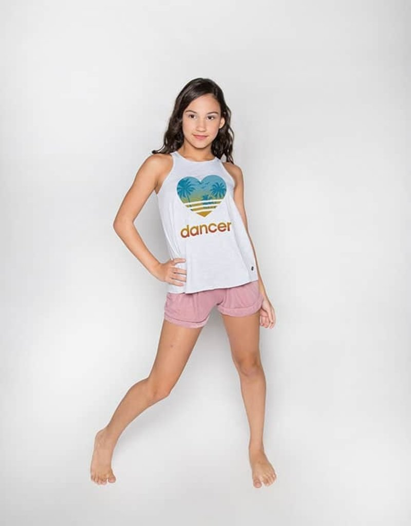 Sugar & Bruno Heart Dancer Youth Everyday Tank D9443