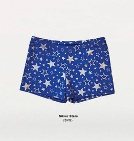 Body Wrappers Child Silver Star Short 700 SVS