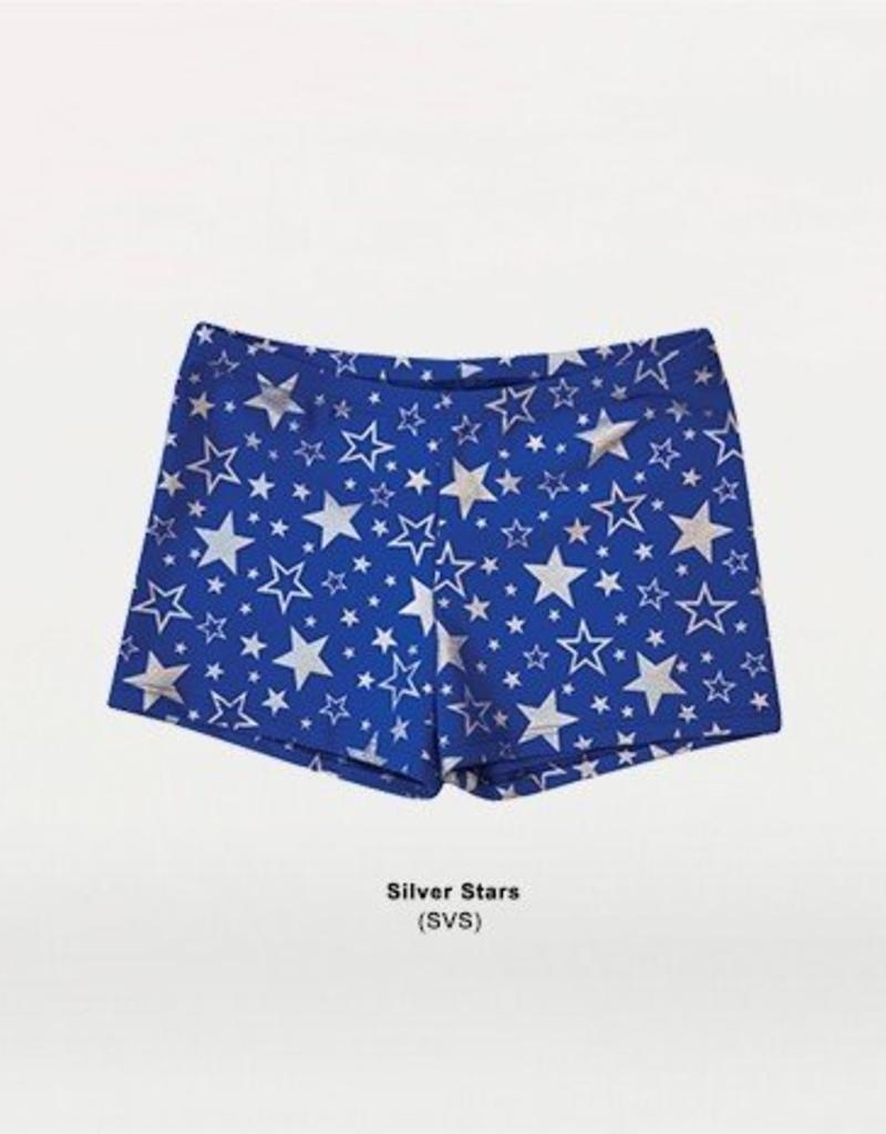 Body Wrappers Ladies Silver Star Hot Short 700 SVS
