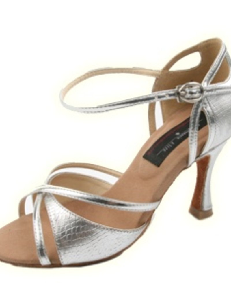 "Stephanie Silver Leather 2.5"" E205"