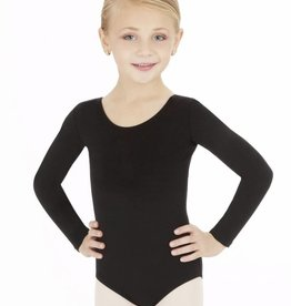 Capezio Girls Long Sleeve Cotton Leotard
