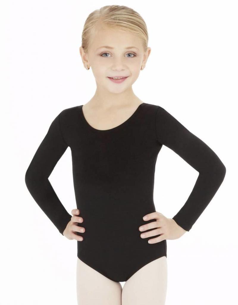 Capezio Girls Long Sleeve Cotton Leotard CC450C