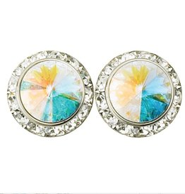 15mm Pierced AB Earrings 98015P-AB