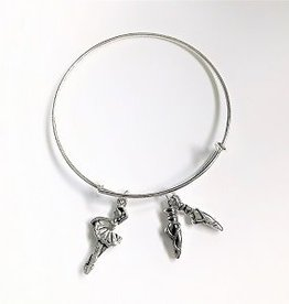 Ballerina & Slippers Bangle Bracelet