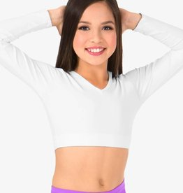 Body Wrappers Child Long Sleeve V-Neck Midriff