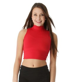 Body Wrappers Hi Neck Crop Top