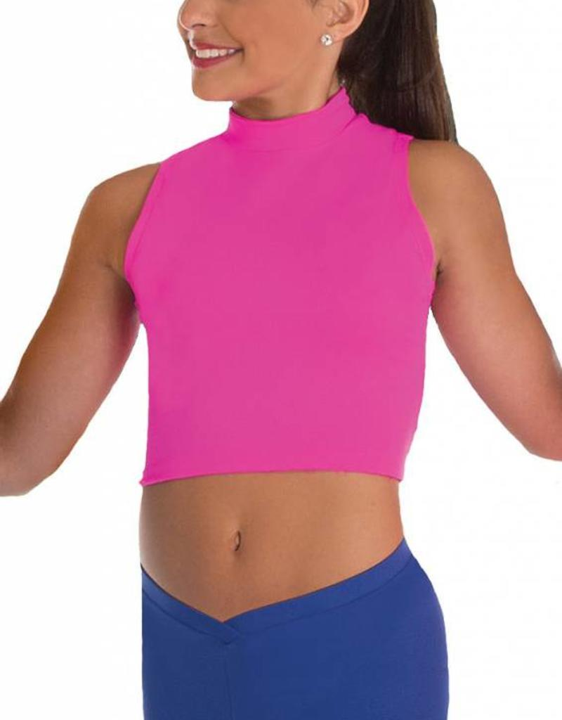 Body Wrappers Hi Neck Crop Top BWP263