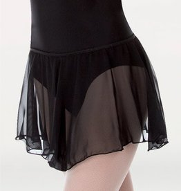 Body Wrappers P984 Chiffon Skirt BLK