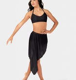Body Wrappers Front Slit Asymetrical Skirt BW9106