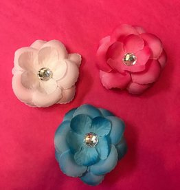 Mini Hair Flower w crystal