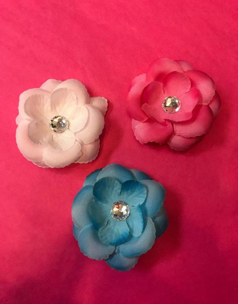 Mini Hair Flower w Crystal