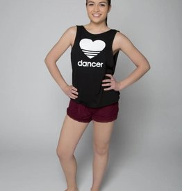 Sugar & Bruno Low Back Tank Heart Dancer D8359