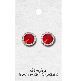 Red 15mm Earrings 98015 Pierced