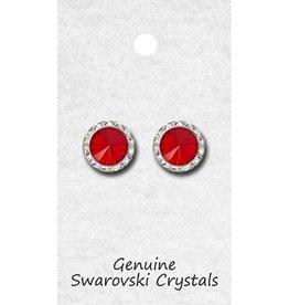 Red 15mm Earrings 98015 Pierced