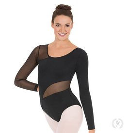 Eurotard Asymmetrical Mesh Leotard
