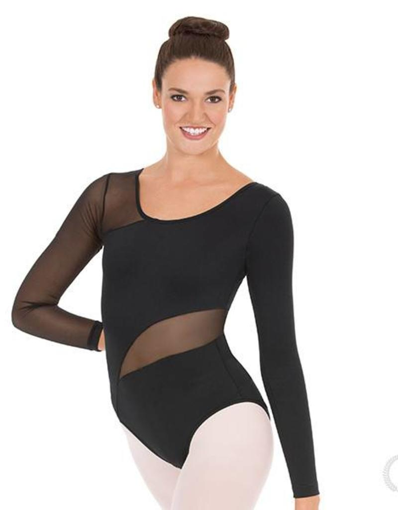Eurotard Asymmetrical Mesh Leotard 45896