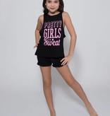 Sugar & Bruno Pretty Girls Youth Lo Back Tank YOS D8558
