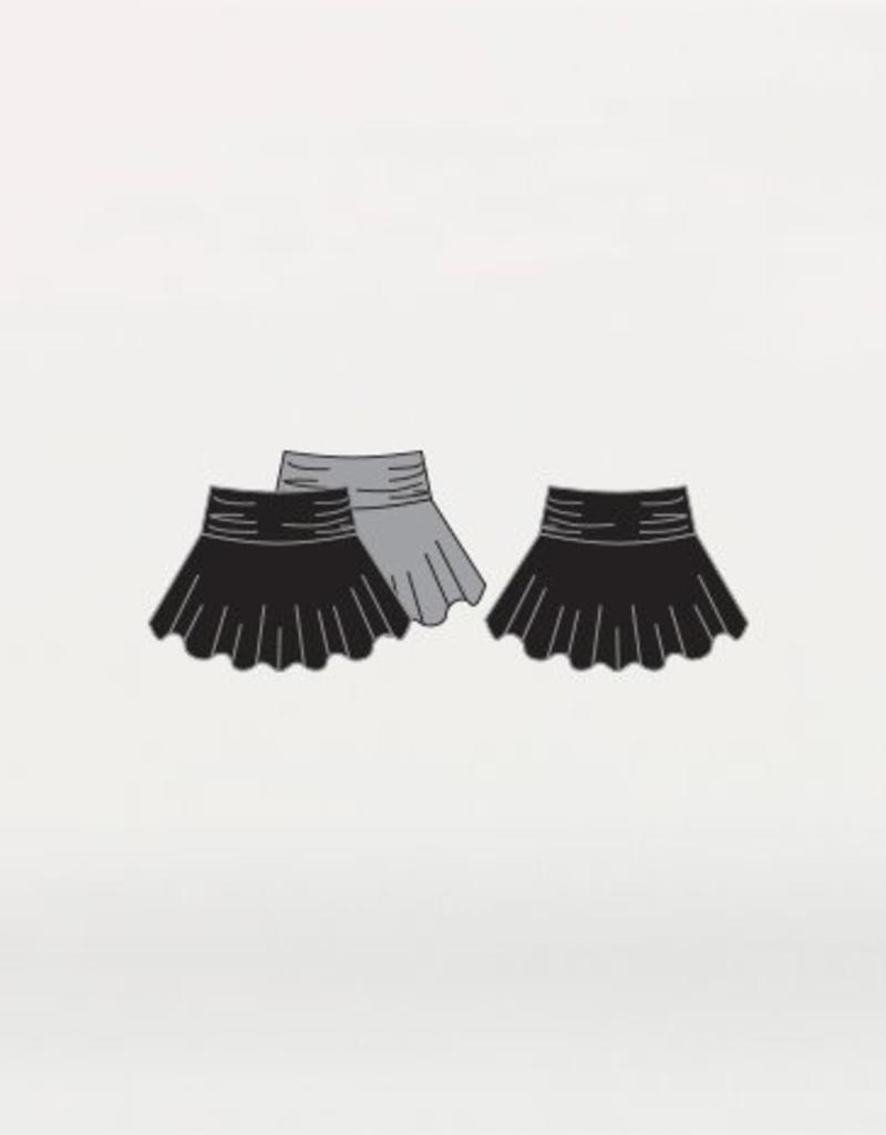 Body Wrappers 8552 Skirt Roll Down Waist BLK Lrg