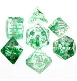 HD Dice, LLC. Nebula Green Poly Dice (7)