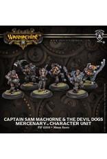 Privateer Press Captain Sam MacHorne & The Devil Dogs - Mercenary Character Unit (6)