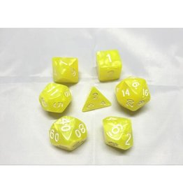 HD Dice, LLC. Pearlescent Bright Yellow Poly Dice (7)